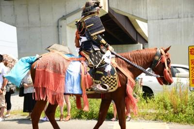 震災後に私が撮影した相馬野馬追い宇多郷の行列